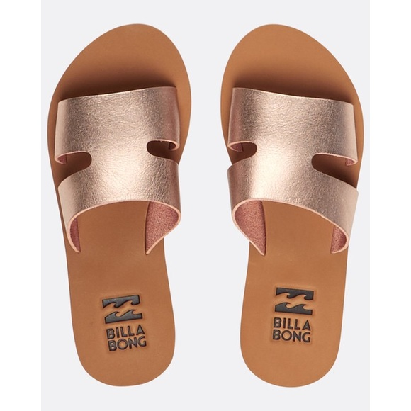 Billabong Shoes - Billabong Rose gold sandals